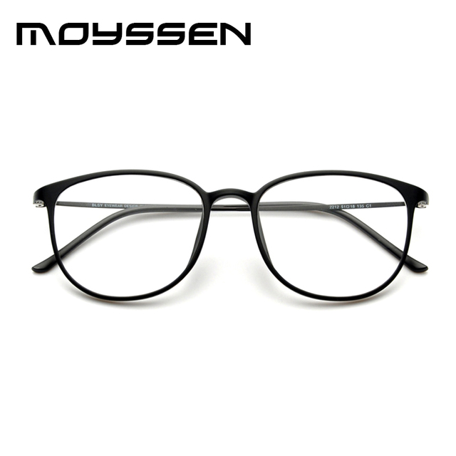 Moyssen Korean Plastic Titanium Retro Oversized Big Frame Eyeglasses ...