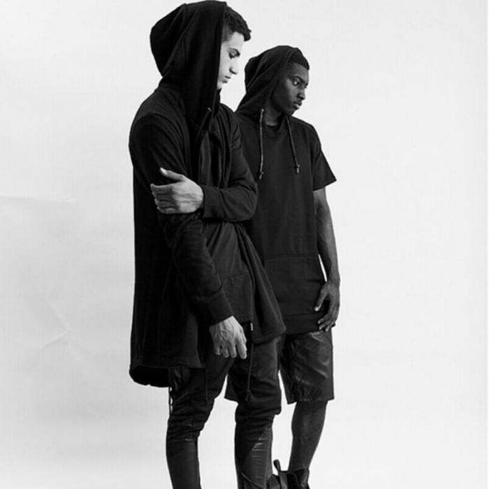 HTB1f0t1dBKw3KVjSZFOq6yrDVXaa Newly Men Hooded Gown Hip Hop Mantle Coat Hoodies Loose Sweatshirts Long Sleeves Cloak Autumn Winter Outwear DOD886