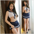 HOT Japanese students loaded game uniforms sleeveless pure Sexy underwear role-playing cosplay school bodysuit for girl