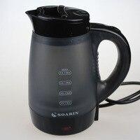 Adoolla 0.4l mini chaleira elétrica de plástico portátil chaleiras água elétrica para viajar em casa