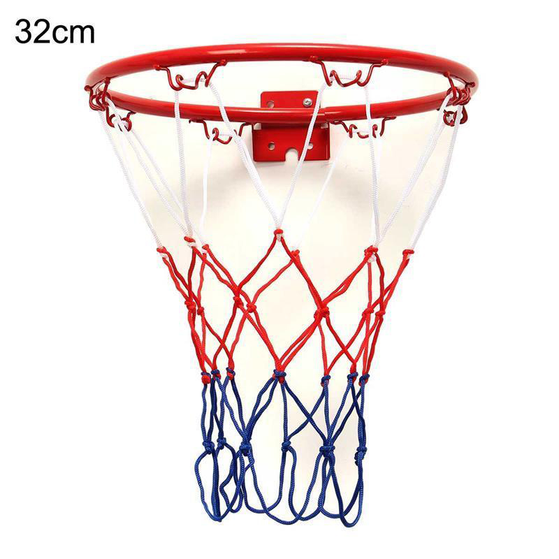 1 Set Hanging Basketball Wall Mounted Goal Hoop Rim Net Sports Netting Indoor&outdoor 32cm Baloncesto Rim Children Kids Play Toy