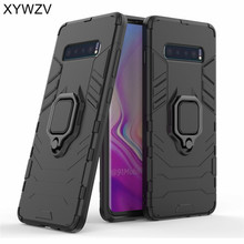For Samsung Galaxy S10 Plus Case Magnetic Metal Finger Ring Holder Cover