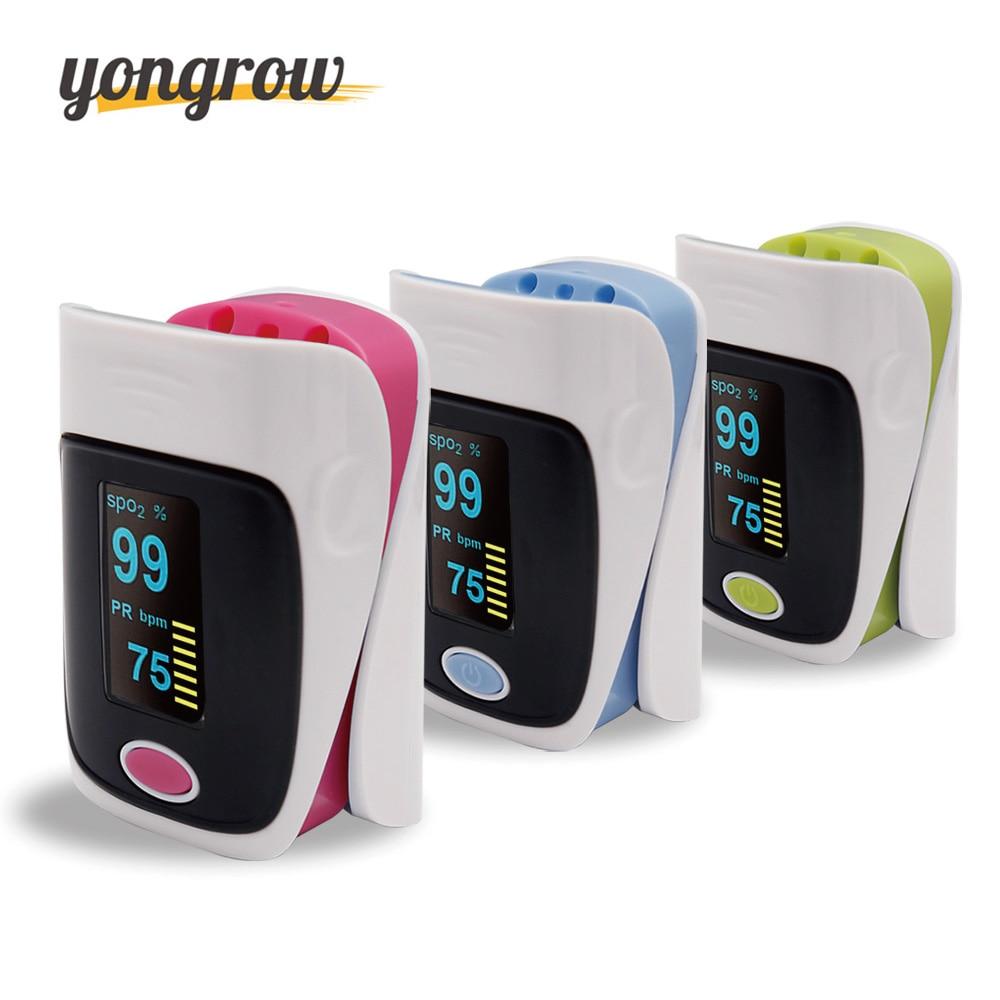 Yongrow Pulsioximetro Oximetro Ossimetro di Impulso della Barretta De Pulso De Dedo SpO2 Saturazione Meter Pulse Ossimetro CE Approvato