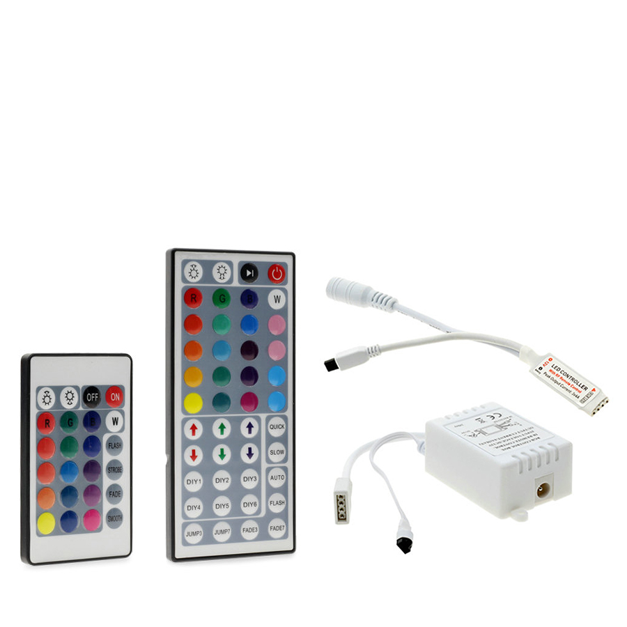 24 Keys / 44 Keys RGB IR/Mini Remote Controller DC12V Controller For SMD3528/5050 LED RGB Strip Lights Mini Controller 24 key 5050 ip20 rgb led strip dc12v diode tape light with wireless wifi mini controller smart control 44 key ir remote controller