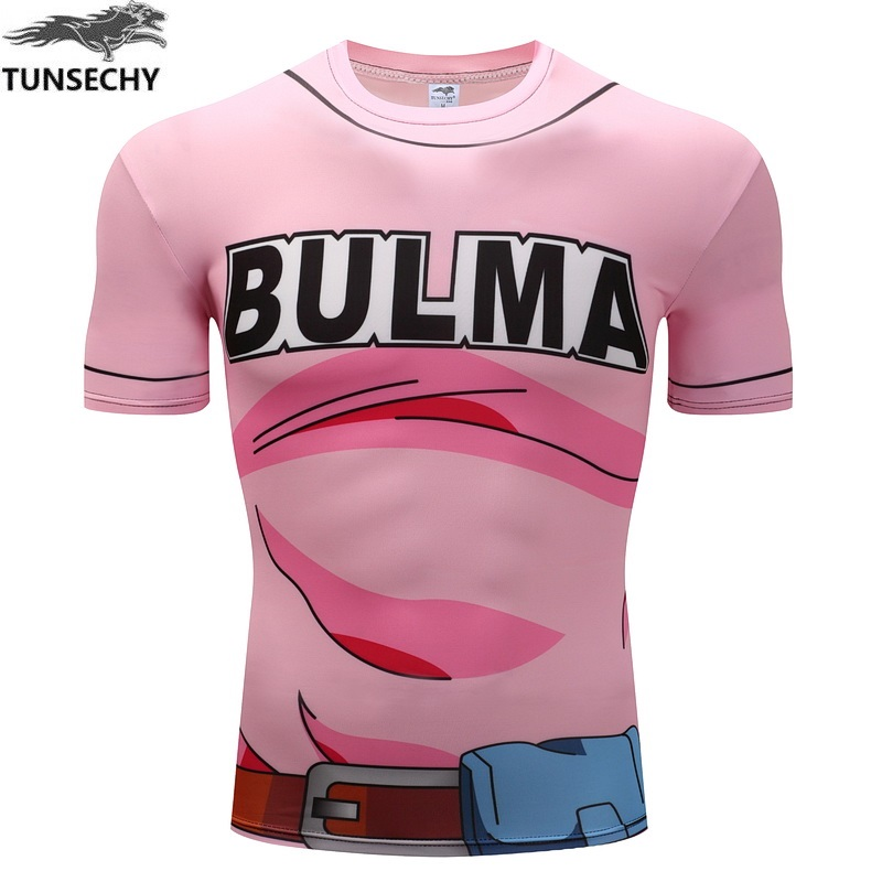 TUNSECHY Dragonball Z 3D digital printing cartoon T-shirt fashion Brand for men and women lovers compression tight T-shirt