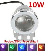 IP68 10 Вт 12 В Высокое качество светодиодные подводные RGB 1000lm Водонепроницаемый фонтан света 16 Цвет изменение с дистанционным контроллер