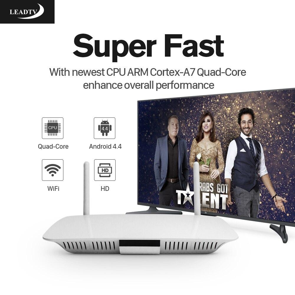 Prix pour Android 4.4 Smart IPTV Set Top Box RK3128 1G 8G avec Leadtv Livraison IPTV Abonnement Complet Europe Arabe Français 700 Canaux TV boîte