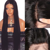 LUFFYHAIR 5*4,5 шелковая основа полностью кружевные человеческие волосы парики с детскими волосами предварительно сорванные прямые бразильские