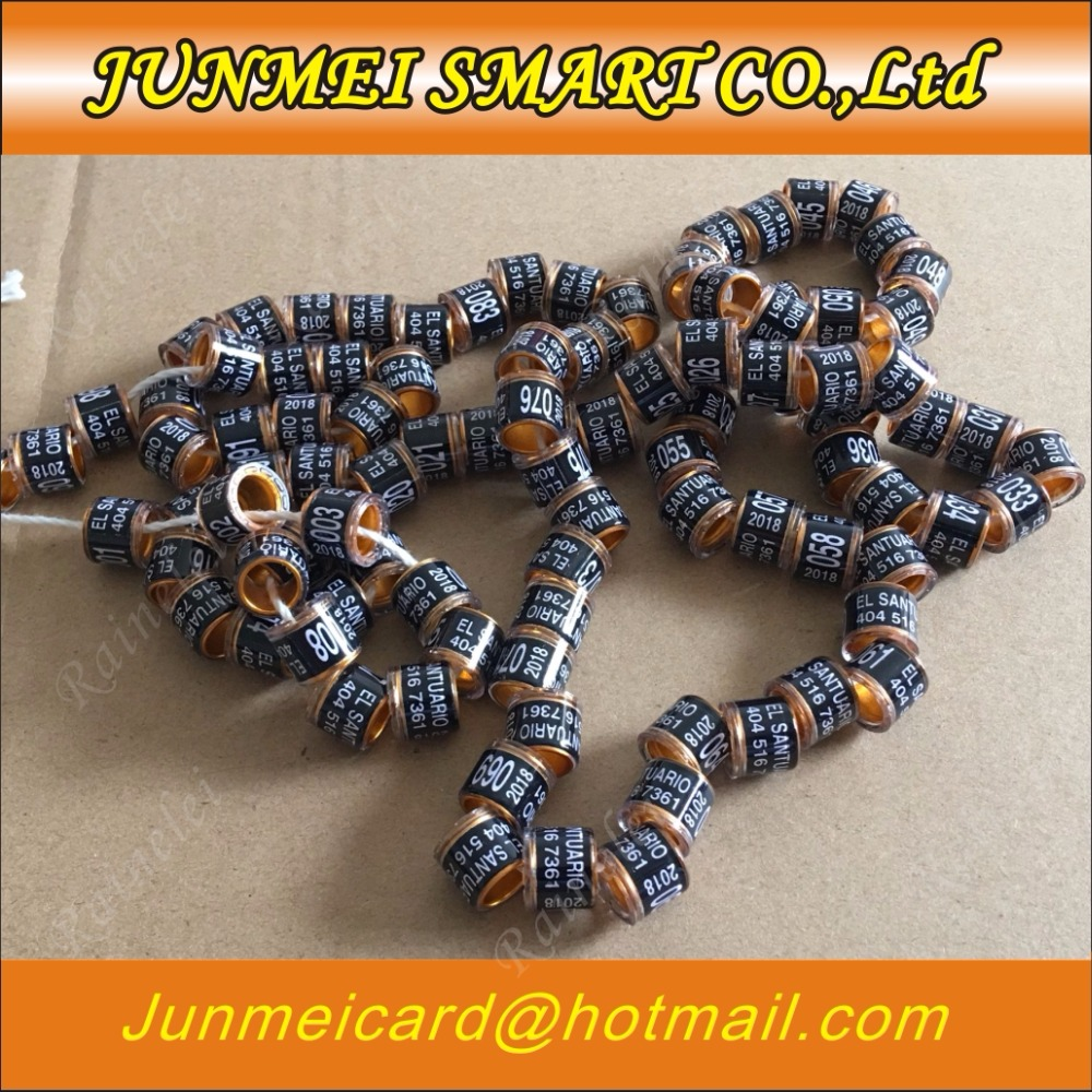 Personal Customization Pigeon Rings Bird Ring Leg Rings Identify Dove Bands 8mm Plastic Aluminium Rings Ic/id Card Iot Devices