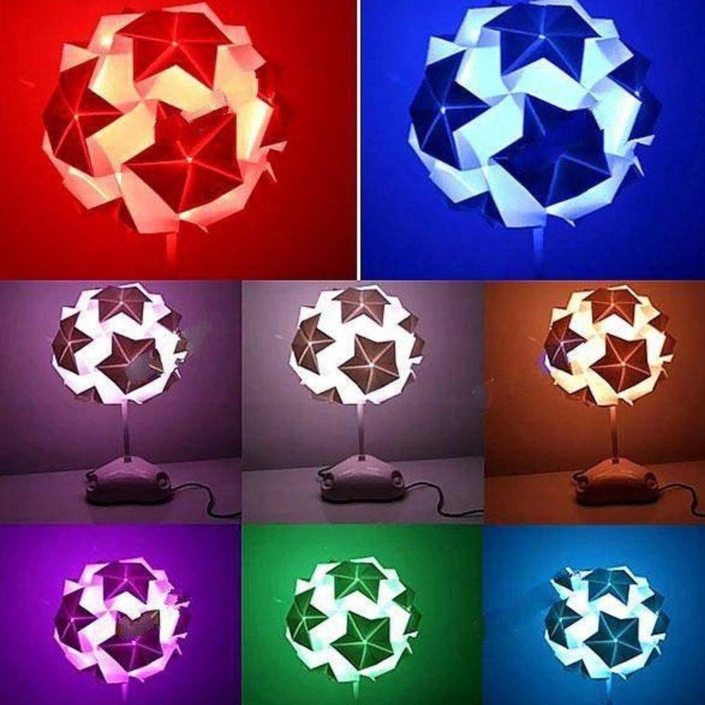 Umweltfreundliche Schreibtisch Lampe 3 LEDs Bunte DIY Tischlampe LED Papierfaltens Dekoration Licht Fr WohnzimmerChina