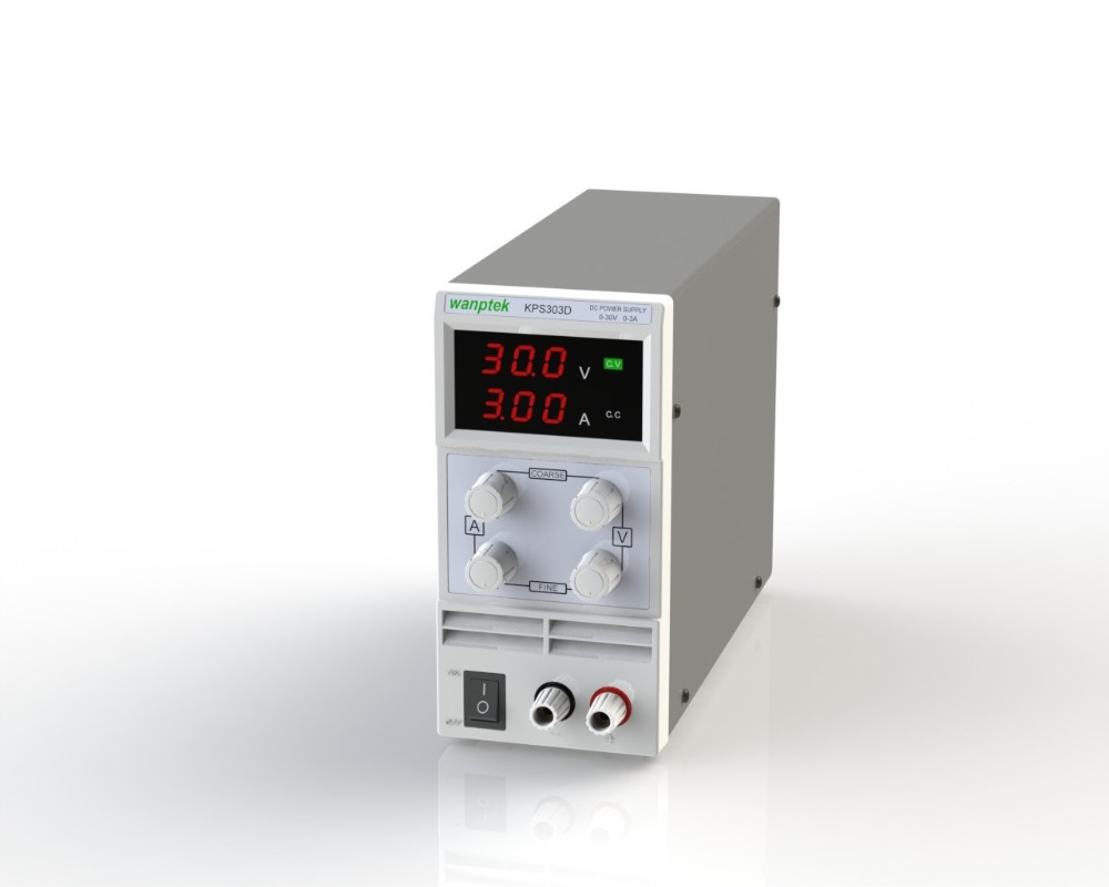 ФОТО KPS303D Adjustable High precision double LED display switch DC Power Supply protection function 30V3A 110V-230V 0.1V/0.01A EU