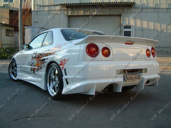 Accessori Per auto In Fibra di Carbonio Bomex Style Spoiler Posteriore Fit Per Il 1999-2002 R34 GTT GTR Posteriore Tronco Spoiler Ala