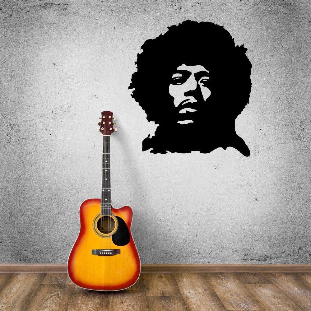 Stickers muraux vinyle décalcomanie Rock musique musicien Jimmi Hendrix
