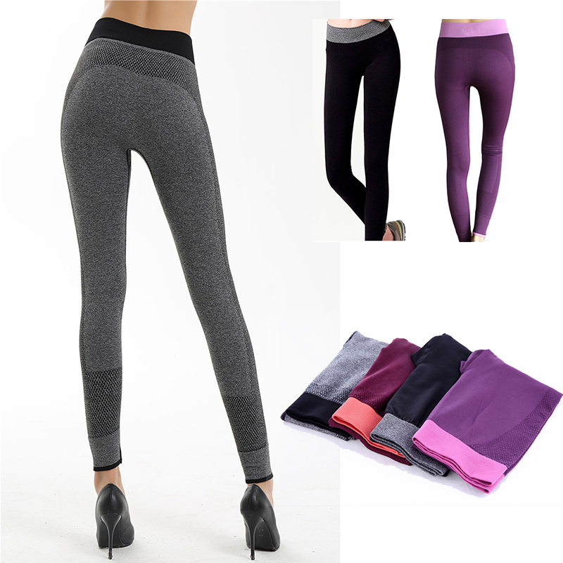 54a790c2df99 Detail Feedback Questions about Gym Clothing For Women Elastic Long Leggins  Running Tights Sports Pants Yoga 4 Colour Wine Red Purple Bodybuilding 2016  on ...