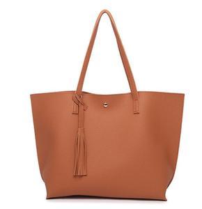 Image 5 - New autumn/winter bag fashion tassel womens bag European and American fashion womens handbag wave grain one shoulder bag