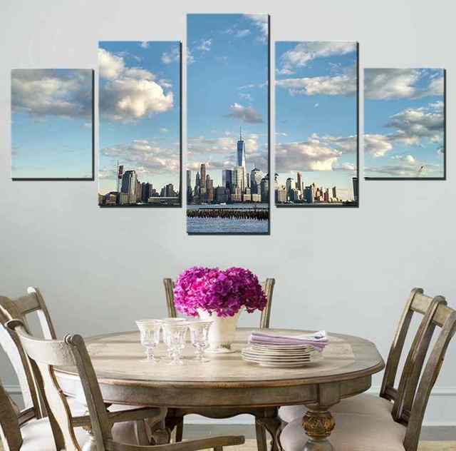 New York City Landscape Canvas Painting for Living Room Decor ...