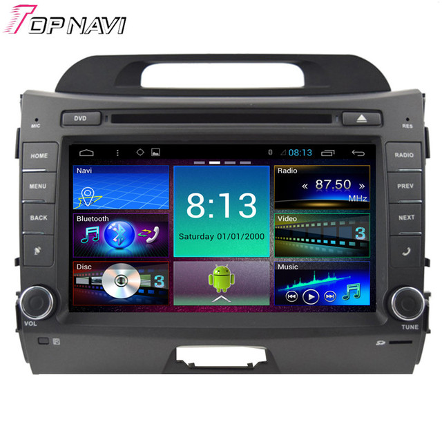 Top 8'' Quad Core Android 4.4 Car Stereo For KIA Sportage R With GPS Map Radio Audio 16GB Flash Mirror Link Free Shipping