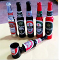 Mini Beer smok Metal Pipes Portable Creative Smoking Pipe Herb Tobacco Pipes Gifts Narguile Weed Grinder Smoke Hook 5 colour