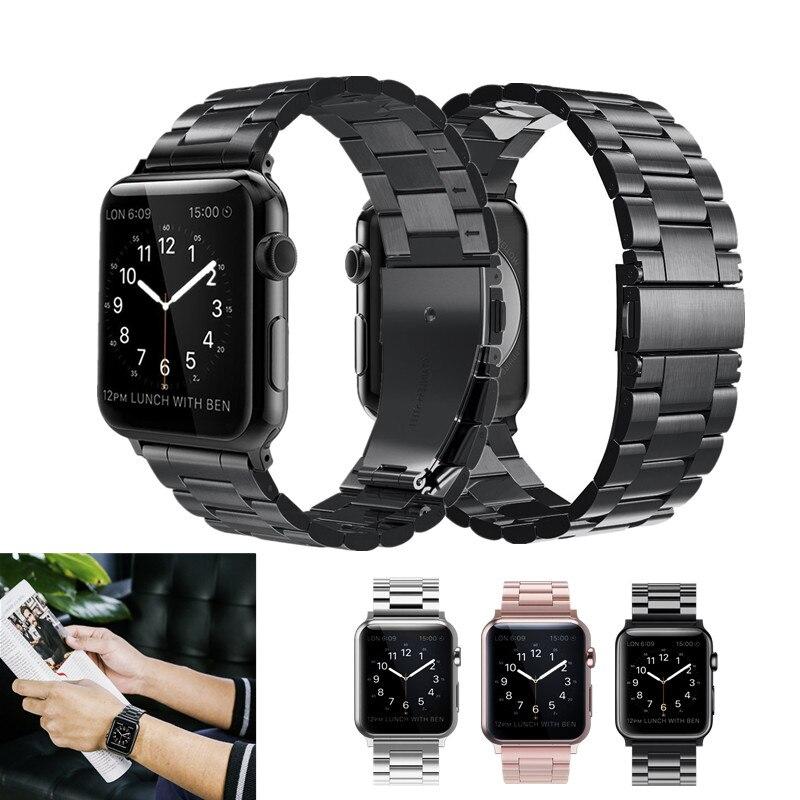Acier inoxydable Bande Pour Apple Montre 42mm Series1 Série 2 Série 3 Remplacement Classique Version Pour iWatch Bracelet 38mm Ceinture En Métal