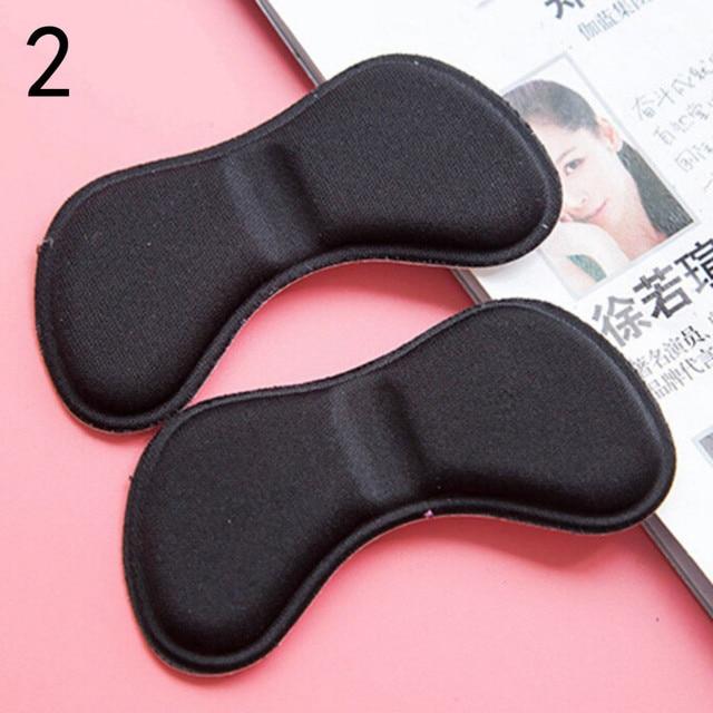 1 ペア新スティッキーメモ生地靴バックヒールインサートパッドクッションライナーグリップパッド 4D ソフト低反発足ケアツールホット販売