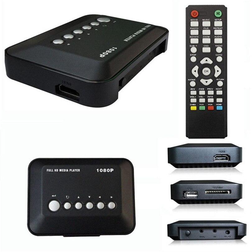 Good Application HD 1080P USB Hard Drive Upscaling Multi Media Player MKV AVI RMVB Adapter US Plug New Sep24
