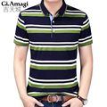 Plus Size 3xl Men Polo Shirt Short Sleeve Fashion Comfortable Polo 2017 Men Casual Classic stripes Male Polo Shirts 2 Colors