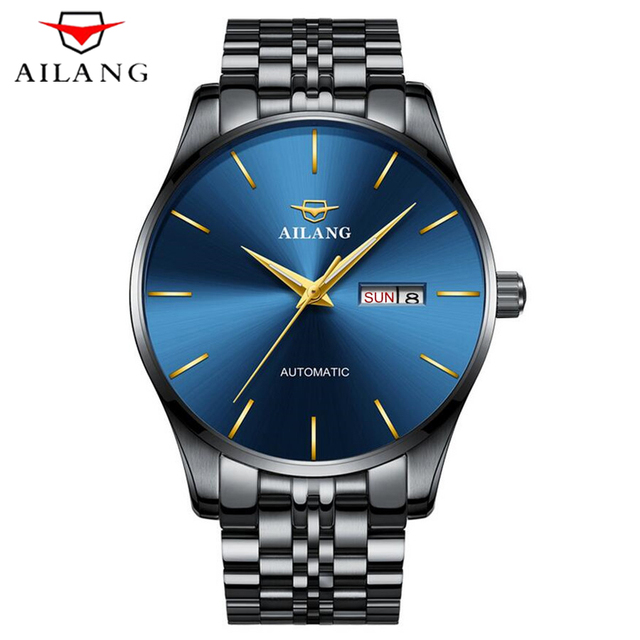 AILANG New Mens Watches Top Brands Luxury Mechanical Watches Stainless Steel Fashion Casual Automatic Watch Support dropshipping
