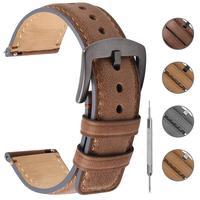 Fullmosa Yola 4 вида цветов кожаный ремешок для часов старинный браслет быстросъемный ремешок 18/20/22 мм