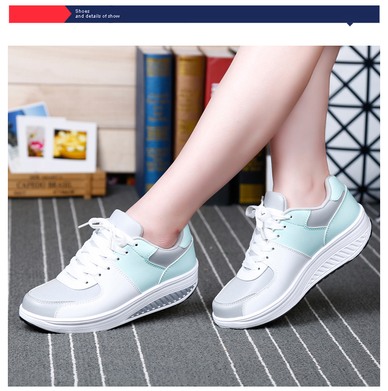 Patchwork Shake Shoes Woman New Leather Platform Women Casual Shoes Lace Up Slimming Ladies Shoes Size 35-40 Walking Shoes ZD61 (12)