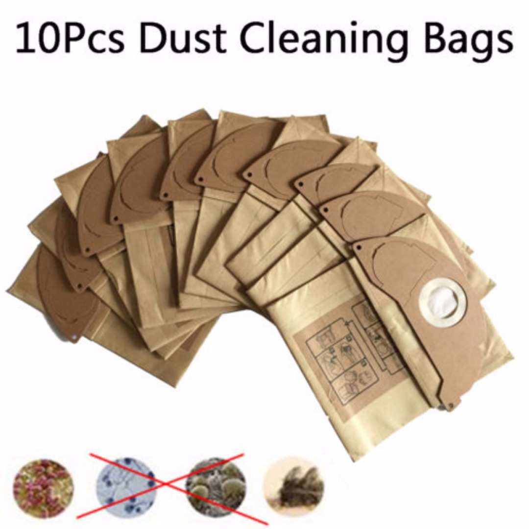 DWZ 10x Vacuum Cleaner Kraft Paper Dust Bag Disposable Filter Bag For Dry 250*212mm клещи переставные kraftool kraft max 22011 10 25