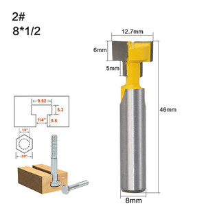 Image 3 - T type Keyhole Milling Cutter 8mm Shank Router Bits Woodworking Wood Cutter Milling Cutters Frame Hanging Wall Cutting Tools