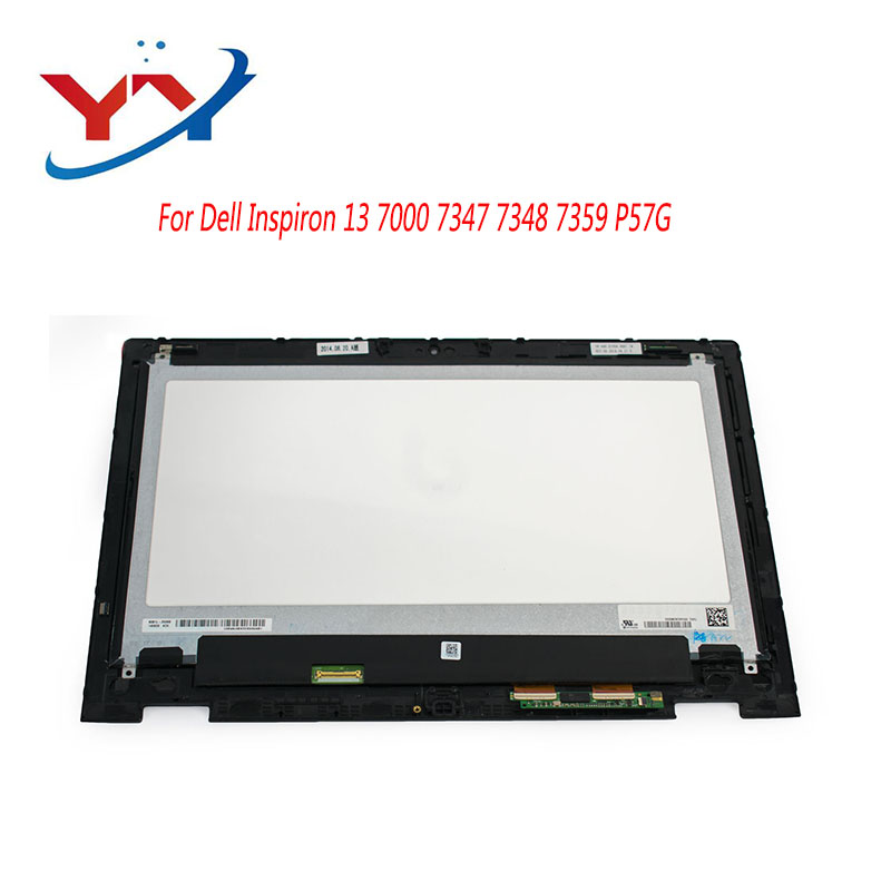 For Dell Inspiron 13 7000 Series 7347 7348 P57G Touch Screen Glass Panel Digitizer Assembly+Frame