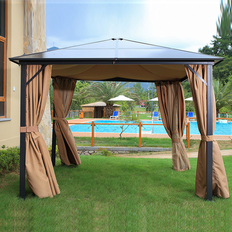 3*3 meterhigh quality durable garden gazebo outdoor tent PC board canopy sun shade pavilion furniture house esspero canopy