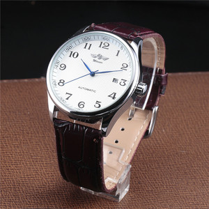 Image 2 - WINNER Famous Brand Men Business Automatic Watches Auto Date Man Fashion Mechanical Wristwatches Leather/Stainless Steel Band