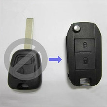 Top Quality For Peugeot 307 2 Buttons Modified Folding Flip Remote Key Shell HU83 Blade With Groove ,Replacement Car Key Case