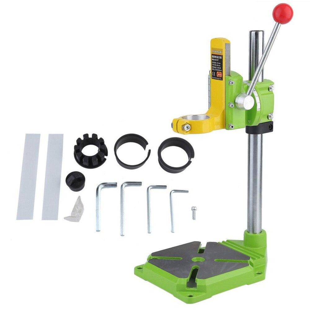 Новый Электрический мощность дрель пресс стенд стол регулируемый верстак инструмент для ремонта зажим бурения цанговый стол поворотный 90 ...