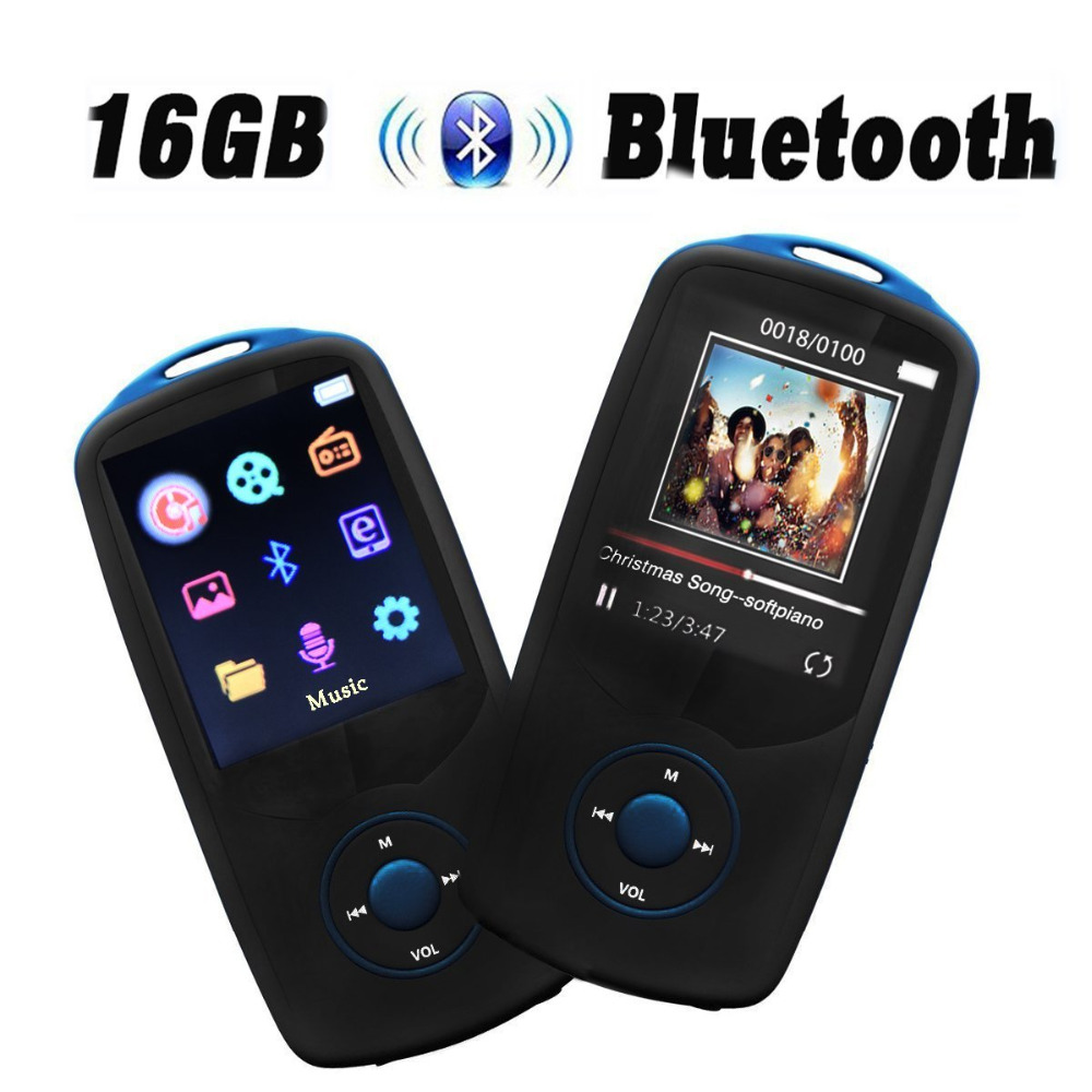 Updated Version Bluetooth MP3 Player 16GB with Bluetooth 4.0, Portable Lossless Music Player with FM Radio Support 64GB Micro SD