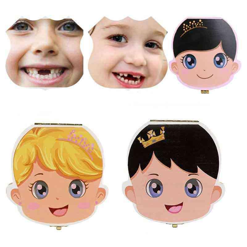 เด็กใหม่ฟันกล่องไม้นมฟันจัดเก็บเด็ก Save ของที่ระลึก Creative เด็กฟันสำหรับเด็ก