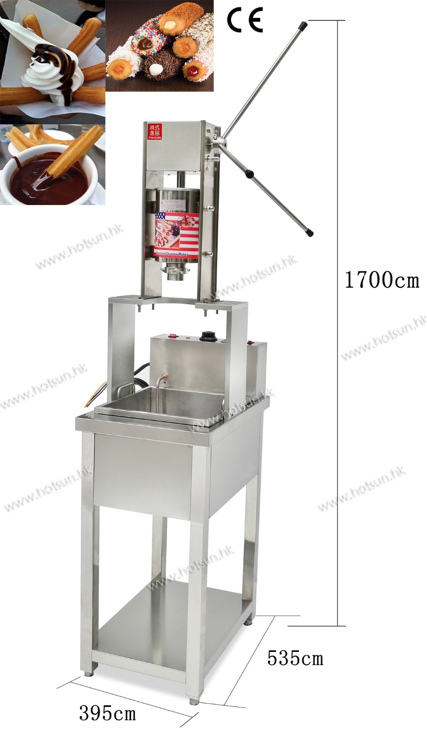 Professional 304 Stainless Steel 3L Churros Maker machine with 20L Electric Deep Fryer commercial deluxe stainless steel 3l churro maker 6l electric fryer manual spanish churros making machine capacity 3l
