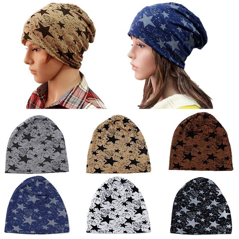 Winter Hats Thin-Hat Skullies Beanies Men Stars-Design Autumn Women Ladies And Unisex