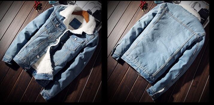 HTB1f0wHXiHrK1Rjy0Flq6AsaFXaL Men Jacket and Coat Trendy Warm Fleece Denim Jacket 2018 Winter Fashion Mens Jean Jacket Outwear Male Cowboy