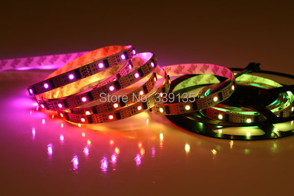 Promotion!!! smd 5050 rgb ws2801 led strip pixel digital light;32leds/m with 32pcs WS2801 IC,DC5V,white PCB,non-Waterproof IP20