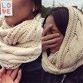 Nuevo anillo de flores de Cáñamo trenzado bufanda de felpa 2015 fahion tejer mujer trenzada de lana bufanda bufanda de las señoras