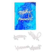 Julyarts Word Awesome Thanks Blessed Dies Metal Cutting Craft Letter for DIY Scrapbooking Paper Card