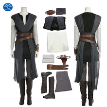 ManLuYunXiao New Star Wars 8 Cosplay Costume Rey Women Halloween For Adult Full Set With Boots