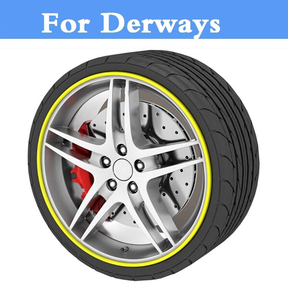 8M Car Wheel Hub Tire Sticker Decorative Strip/Rim Care Covers For Derways Aurora Cowboy Land Crown Saladin Shuttle