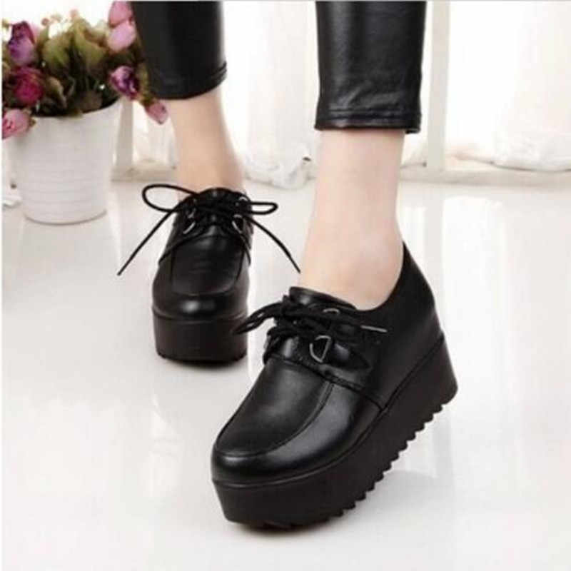 2018 New Fashion British Goth Punk Creepers Flats Hot Sale Lace up Skull American Fashion Boat Shoes