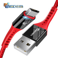 TIEGEM สาย Micro USB 2A Fast Charge USB Data Cable for Samsung Xiaomi แท็บเล็ต Android สายชาร์จ USB Microusb สาย(China)