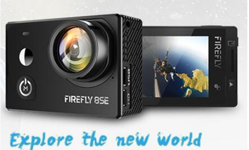 Hawkeye Firefly 8SE new design than Hawkeye Firefly 8S 170 Degree Super-View Bluetooth FPV Sport Action Cam image