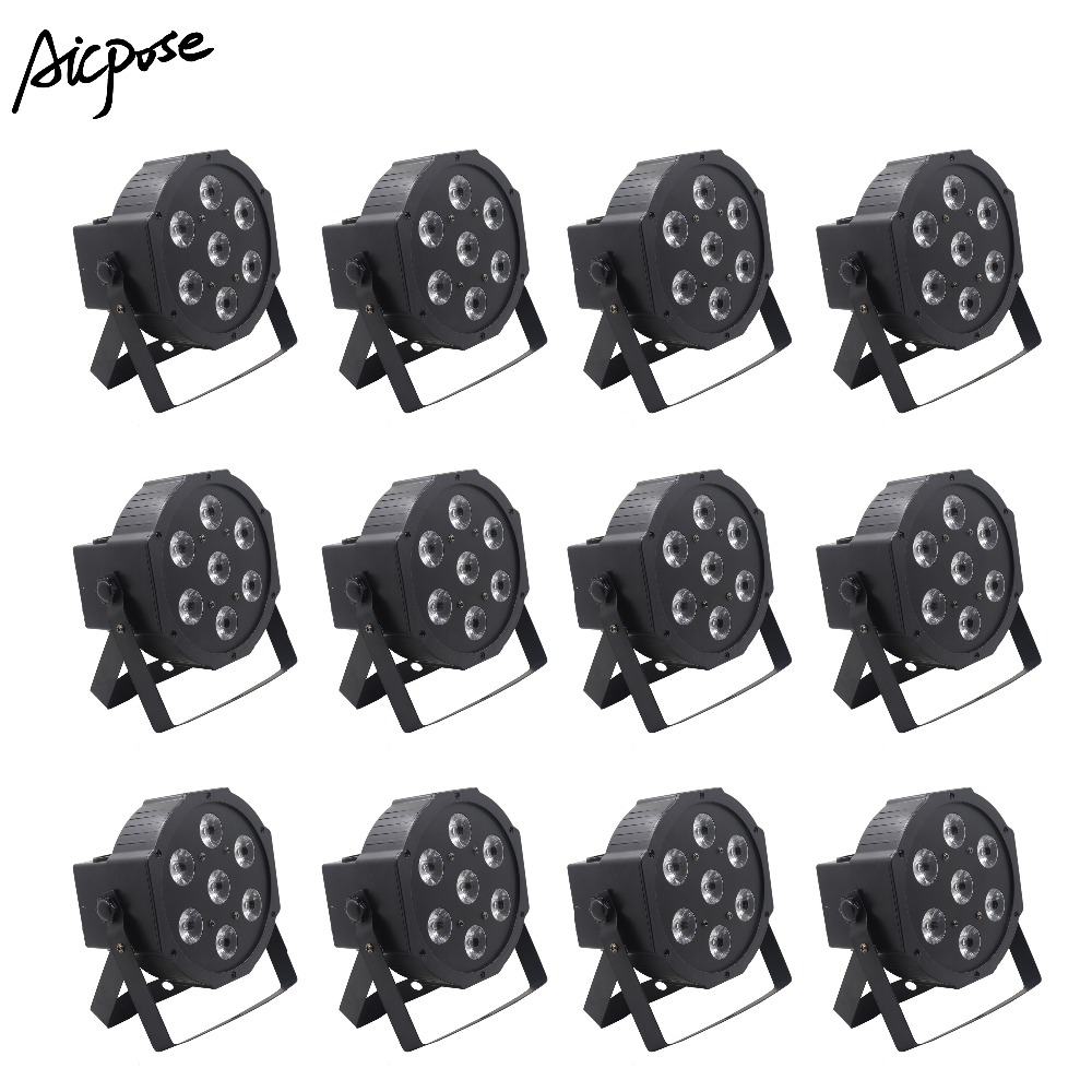 12pcs/lots Led Par 7x12w Rgbw 4in1 Par Led Light With Dmx512 Control Disco Wedding Dj Stage Lighting Wall Washer Moderate Price Stage Lighting Effect